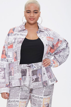 Forever 21 Plus Size Marilyn Monroe Denim Jacket