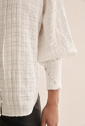 Country Road Textured Blouse
