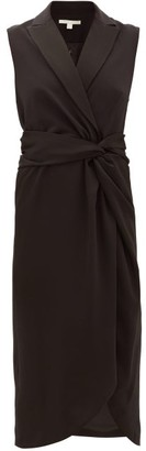 Jonathan Simkhai Twist-waist Satin Long Dress - Black