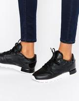 Reebok Classic Sneakers With Patent Heel Detal
