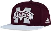 adidas Mississippi State Bulldogs Flat Brim Snapback Cap