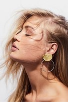 Sibilia Brass Knocker Hoops by at Free People