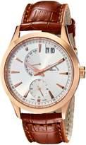 Zeno Men's 6662-7004PRG-F2 Gentlemen Analog Display Quartz Brown Watch