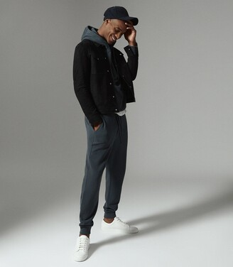 Reiss Bemish - Jersey Joggers in Airforce Blue