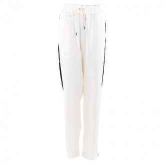 Burberry White Silk Trousers