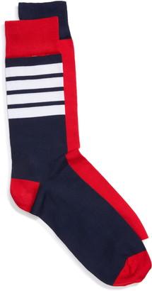 Thom Browne 4-Bar Cotton Crew Socks