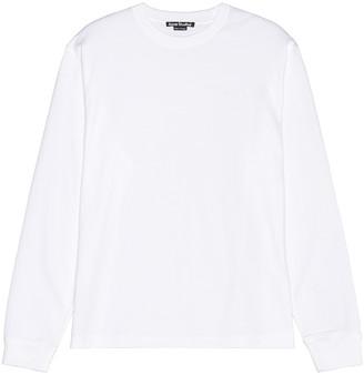 Acne Studios Eisen Face Tee in White in Optic White | FWRD