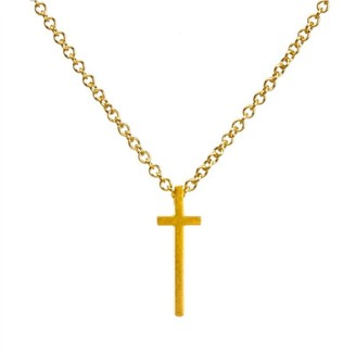 Dogeared HAVE FAITH NECKLACE GOLD DIPPED