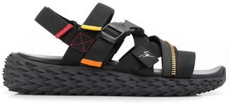 Giuseppe Zanotti Cross-Strap Zip Detail Sandals