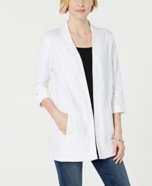 Karen Scott 3/4-Sleeve Cozy Cardigan, Created for Macy's