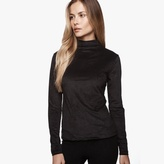 James Perse Stretch Velvet Top