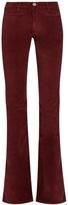 MiH Jeans Marrakesh high-rise kick-flare velvet trousers