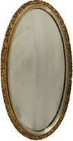 One Kings Lane Vintage Oval Giltwood Mirror
