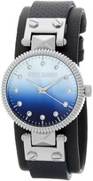 Steve Madden Women's Ombre Crystal Leather Strap Watch