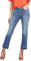 Very Frayed Crop Flare Jeans