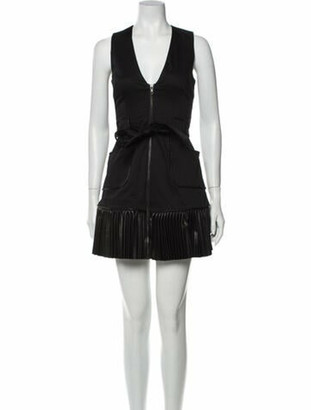 Alexis V-Neck Mini Dress Black