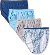 Hanes Women's 4 Pack Ultimate Hi-Cut Panty 43KU, Assorted C5, 7