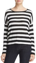 Eileen Fisher Striped Organic Linen Sweater - 100% Exclusive