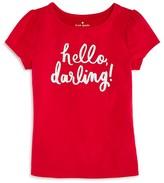 Kate Spade Girls' Hello Darling Tee - Sizes 7-14