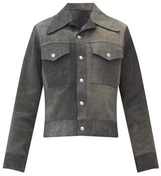 Maison Margiela Reversible Suede And Leather Jacket - Grey
