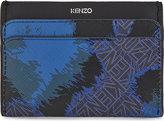 Leopard Flying Kenzo Leather Card Holder