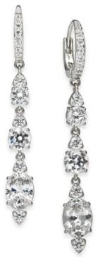Eliot Danori Silver-Tone Crystal Linear Drop Earrings, Created for Macy's