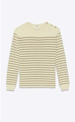 Saint Laurent Sailor Sweater In Lame Knit