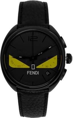 Fendi Black Momento Bugs Chronograph Watch
