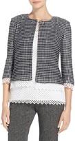 St. John Textural Grid Knit Jacket