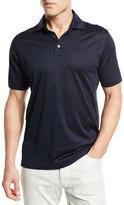 Ermenegildo Zegna Mercerized Cotton Polo Shirt, Navy