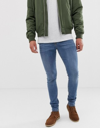 Asos Design DESIGN super skinny jeans in light wash