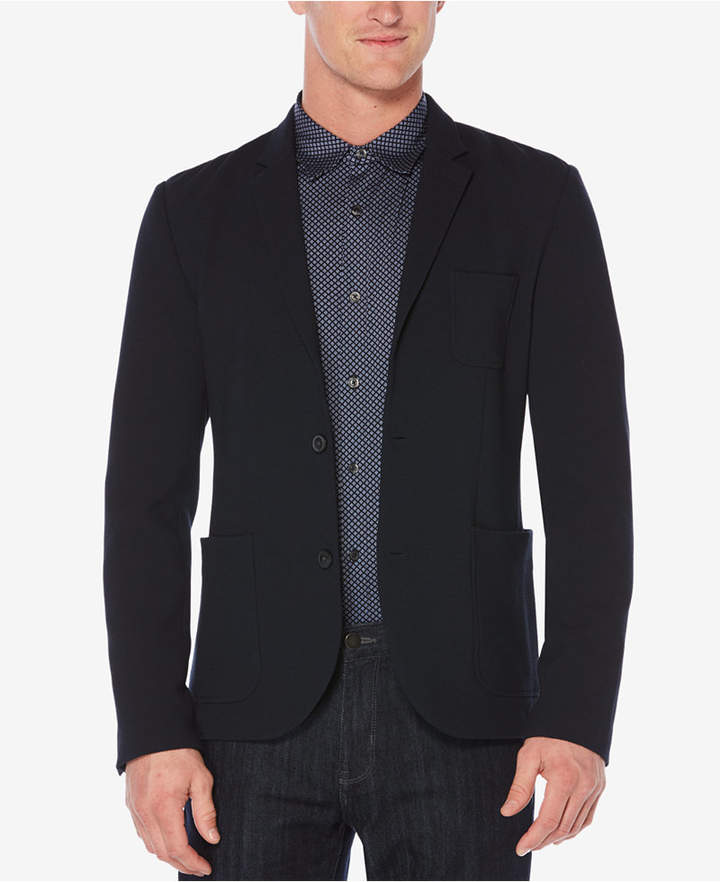 Perry Ellis Men's Slim-Fit Textured Knit Jacket