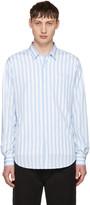 Ami Alexandre Mattiussi Blue Striped Wide Shirt