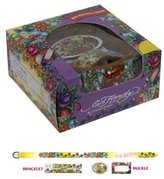 Ed Hardy Long Stem Roses Holiday Gift Belt Set For Girls