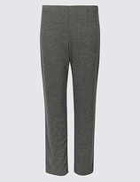 Classic Textured Ponte Straight Leg Trousers