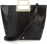 Kate Landry Crocodile-Embossed Satchel