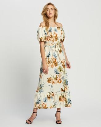 Dorothy Perkins Puff Sleeve Bardot Dress