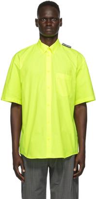 Balenciaga Yellow Tab Large Fit Short Sleeve Shirt
