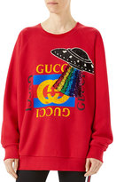 Gucci Jersey Sweatshirt with UFO Appliqu&233