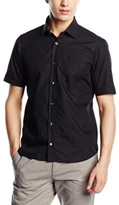 Signum Men's 1/2 Basic Casual Shirt, (Optical White)