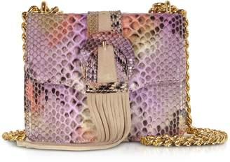 Ghibli Fringed Python Leather Shoulder Bag