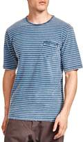 The Kooples Striped Jersey Destroyed Tee