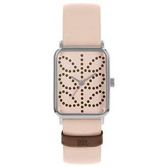 Orla Kiely Womens Analogue Classic Quartz Watch with Leather Strap OK2303