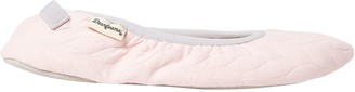 Dearfoams Women's Cable Quilted Ballerina Slippers - Carrie