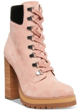 Madden-Girl Train High-Heeled Lug Sole Booties