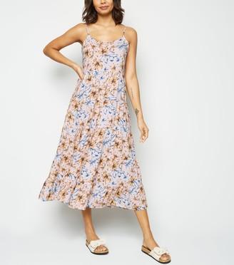 New Look Tropical Tiered Midi Dress