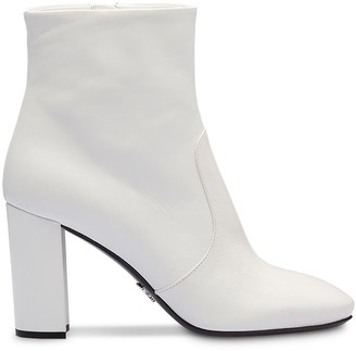 Prada chunky heel 85 ankle boots
