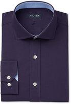 Nautica Men's Classic/Regular Fit Navy Poplin Solid Dress Shirt
