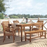 Beachcrest Home Elaina Solid Wood Dining Table