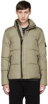 Stone Island Taupe Down Puffy Jacket